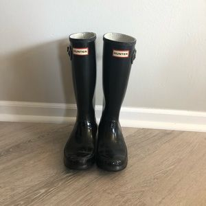 Original Gloss Black Hunter Boots Size 5